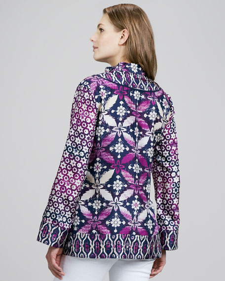 Darla Printed Silk Tunic