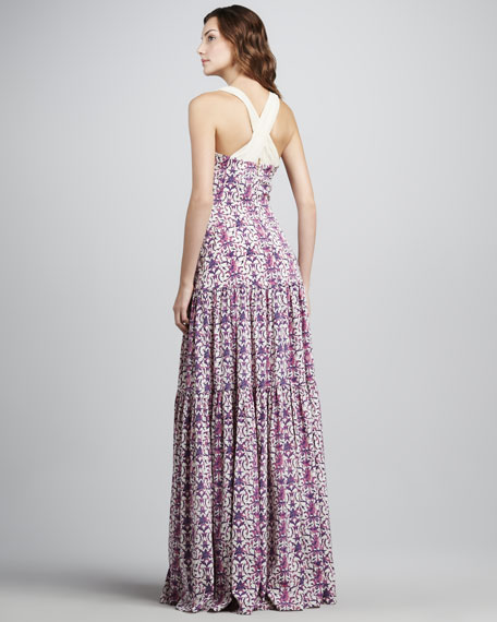 Logan Tiered Printed Maxi Dress