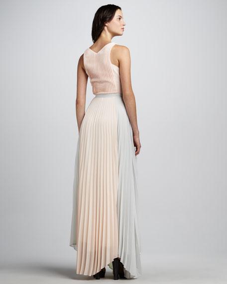 Marina Pleated Sleeveless Maxi Dress