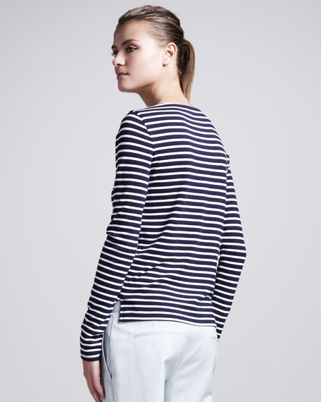 Nivanta Striped Long-Sleeve Top
