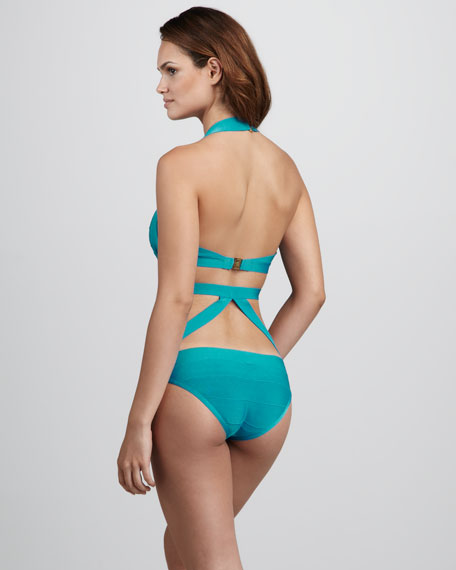 Strappy Cutout Bandage One-Piece Swimsuit