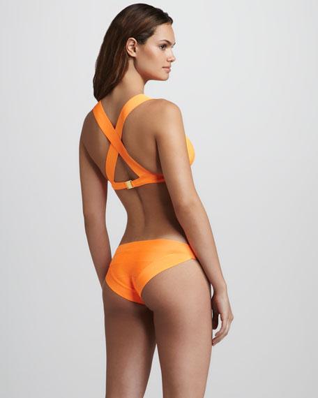 Neon Cross-Back Bandage Bikini