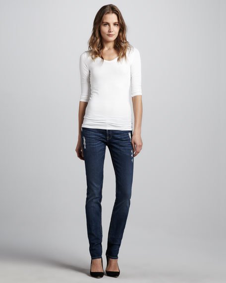 Roxanne Skinny Distressed Jeans
