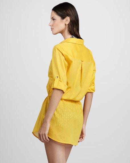 Kayla Lightweight Shirtdress Coverup