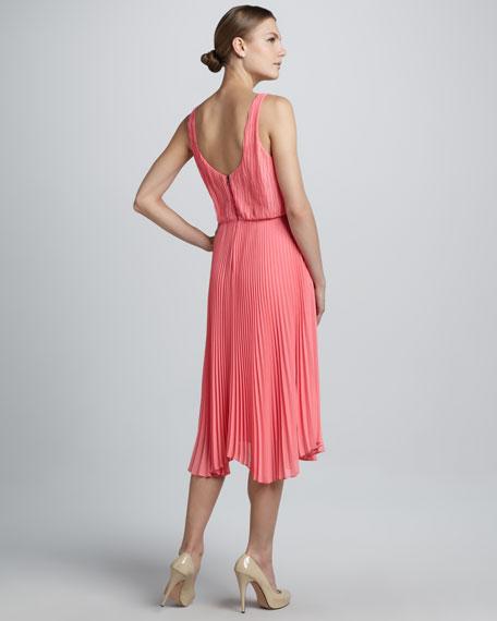 Penny Knife-Pleat Dress