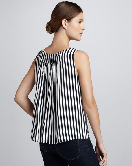 Arleigh Pleat-Back Top