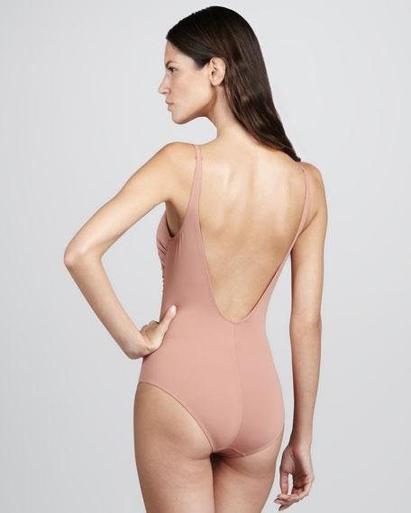 Lipari Smocked One-Piece Swimsuit