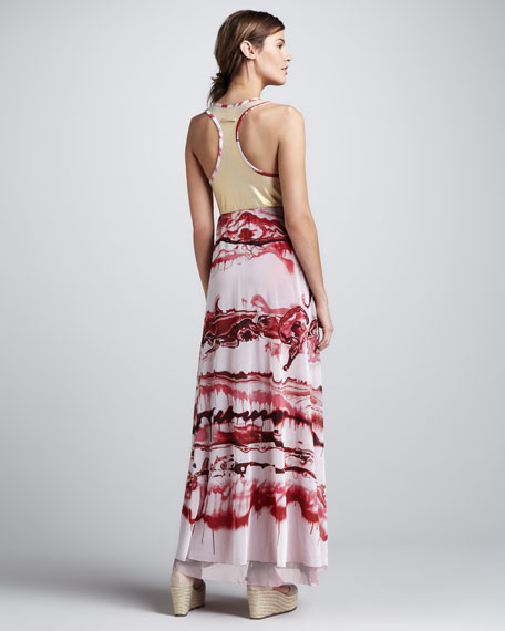 Printed Racerback Maxi Dress