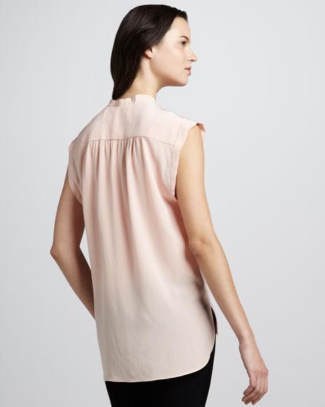Sleeveless Silk Blouse