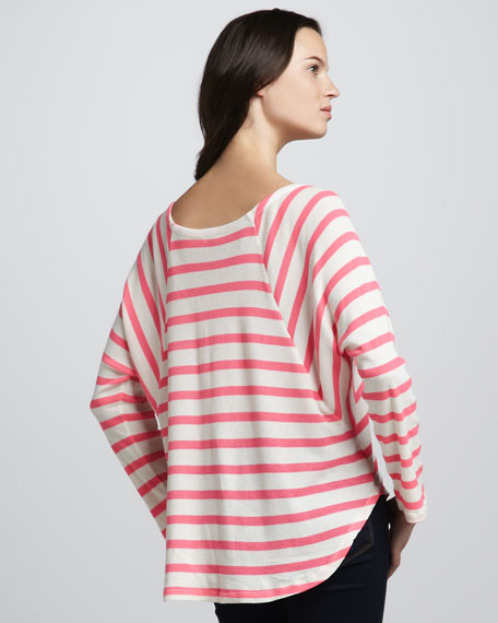 Striped Thermal Batwing Top