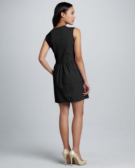 V-Neck Ponte Dress