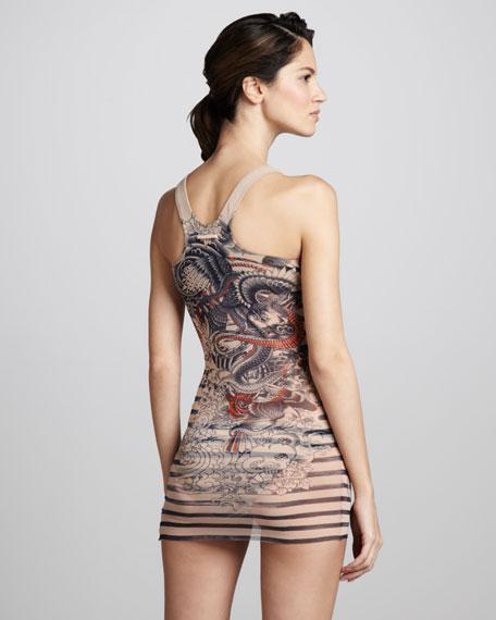 Tattoo-Print Tankini