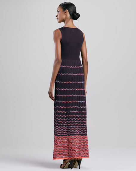 Wave Stripe Maxi Dress