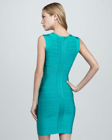 Scallop-Front Bandage Dress