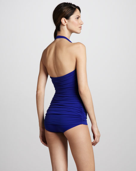 Bill Ruched One-Piece, Cobalt