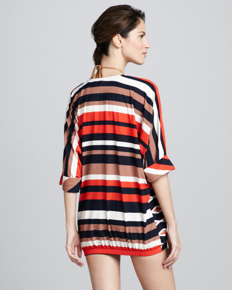 Hayley Striped Coverup