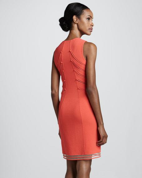 Zip-Front Wool Crepe Dress