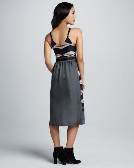 Hayley Striped Satin Dress
