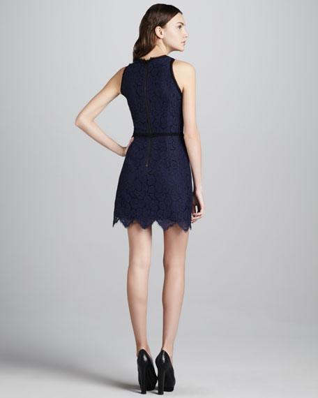 Claudia Scalloped Lace Dress
