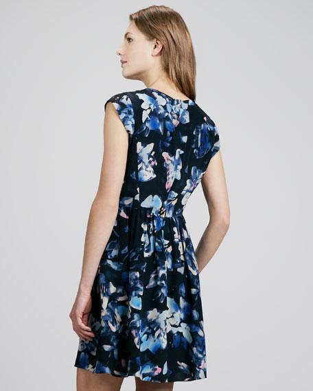 Hawaii Printed Peplum Dress