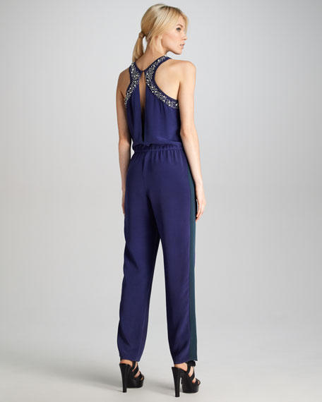 Sequin Drawstring Jumpsuit
