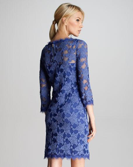 Lace Scalloped Shift Dress