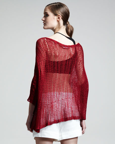 Asymmetric Marled Pullover
