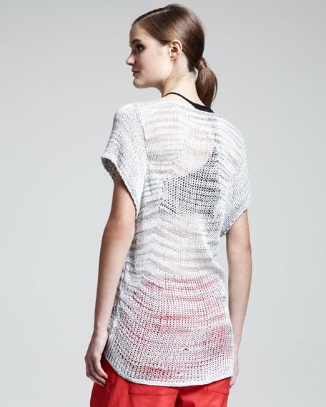 Marled Short-Sleeve Sweater