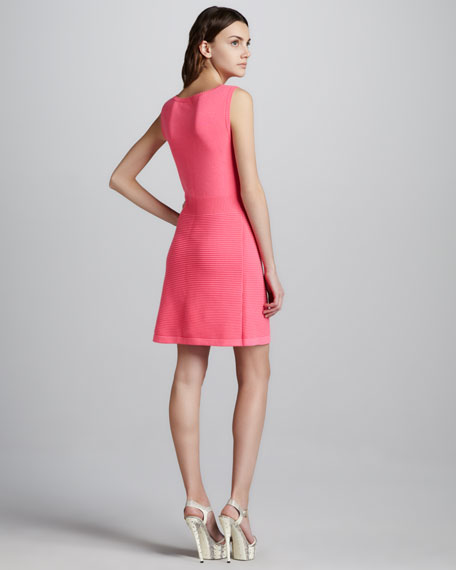 Artistic Patterned Knit Dress