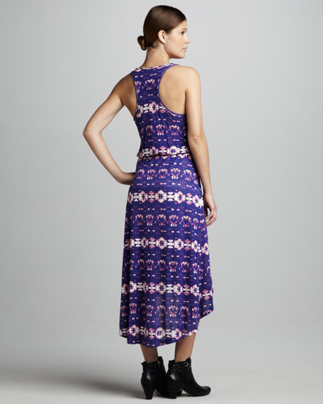 Printed High-Low Maxi Dress