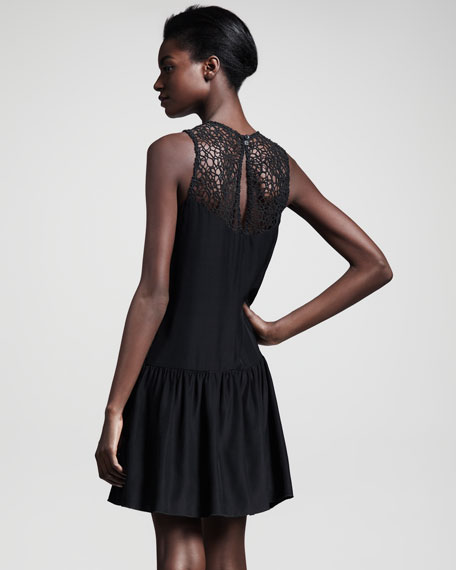 Abigayle Lattice-Neck Dress