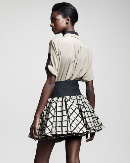 Daisy Windowpane Skirt