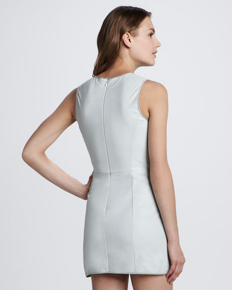 Dimo Leather Sleeveless Dress