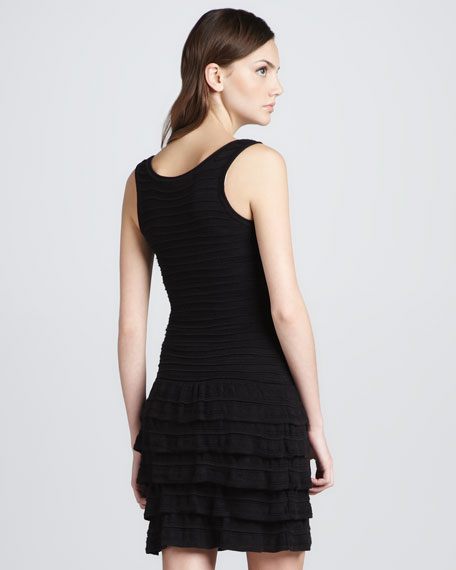 Knit Ruffled Tiered Dress