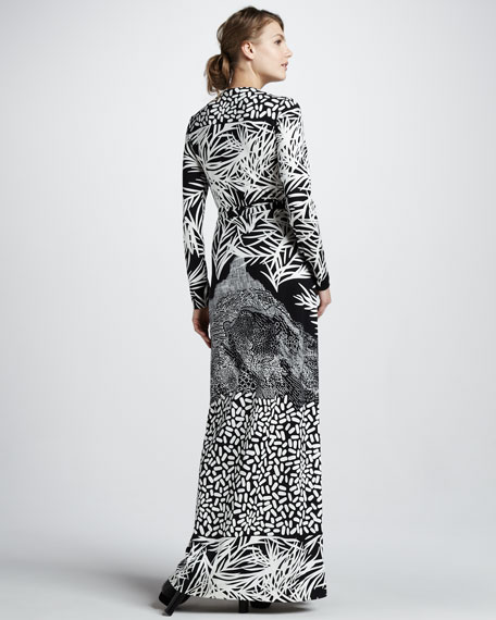 Georgina Printed Jersey Maxi Dress