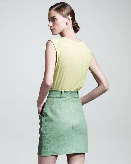 Phenomena Leather Skirt