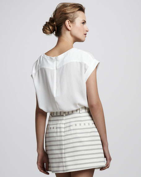 Saleya Cap-Sleeve Top