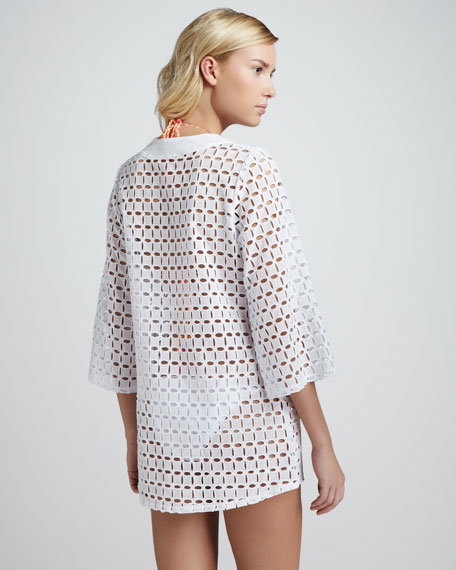 Fran Lace-Up Eyelet Coverup