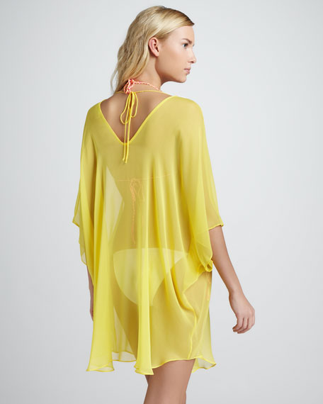 Beverly Sheer Chiffon Coverup, Yellow
