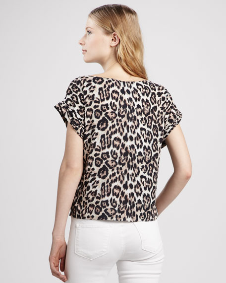 Caprina Leopard-Print Top