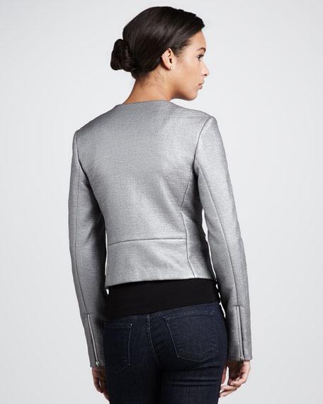Laminated Zip-Front Jacket
