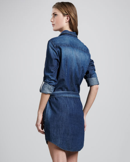 Serena Denim Tie-Waist Dress
