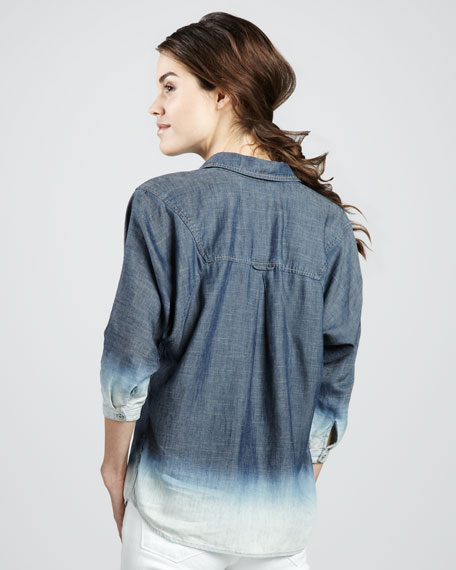 Bleached Ombre Chambray Shirt