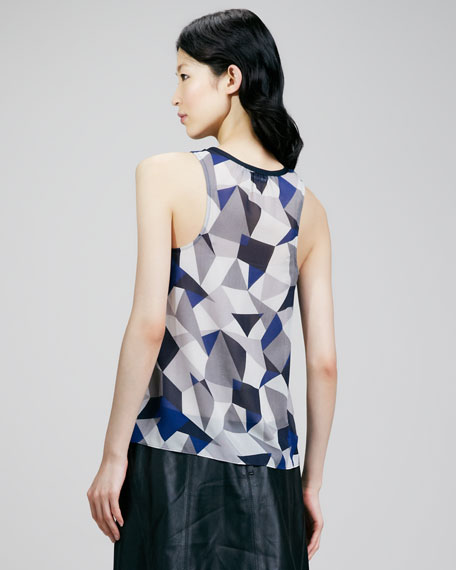 Tabitha Printed Silk Top