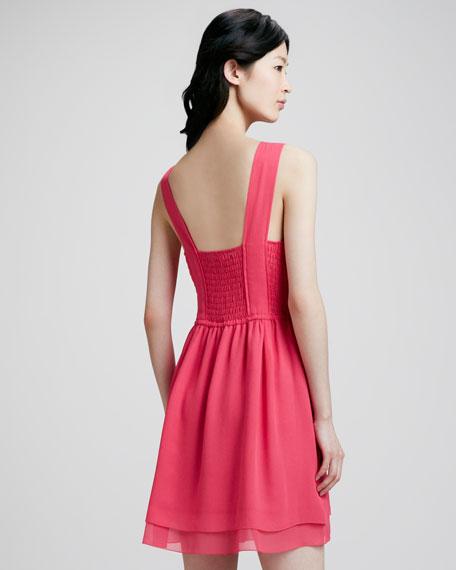 Crystal Textured Silk Dress
