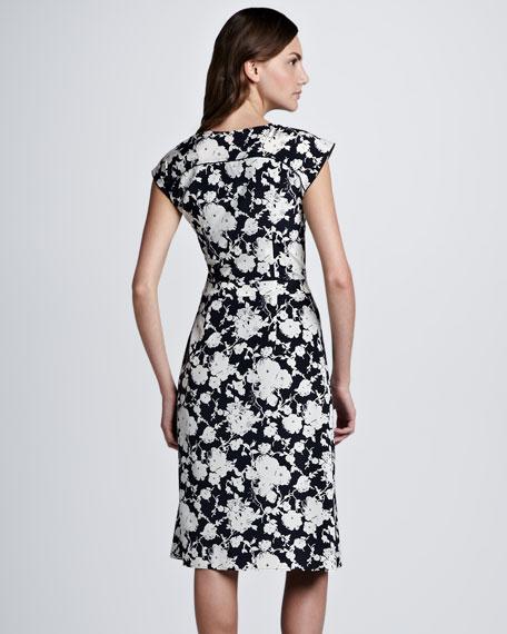 Victoria Floral-Print Silk Dress