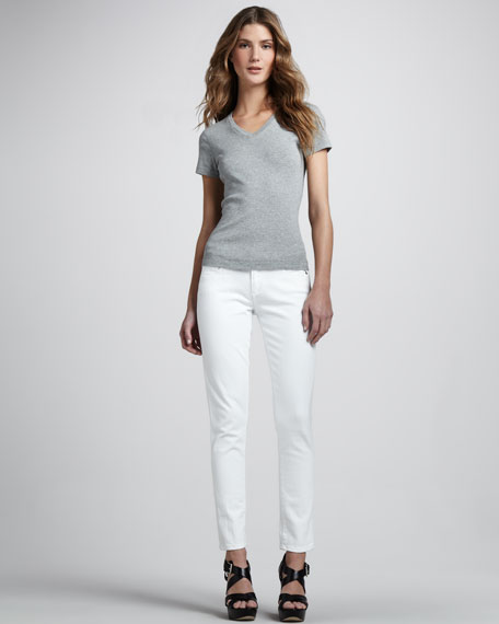 Skyline Ankle Peg Jeans, White
