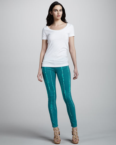 Verdugo Skinny Batik Jeans, Jade