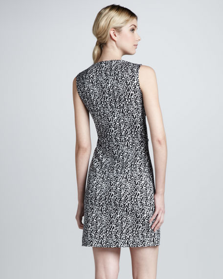 Noe Sleeveless Snake-Wave Dress