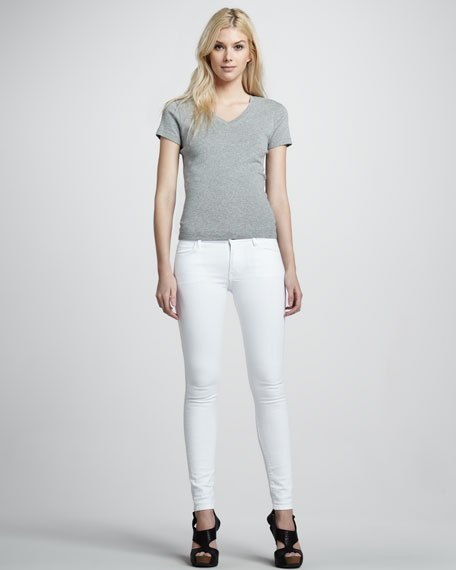 White Japanese Skinny Jeans, Clean